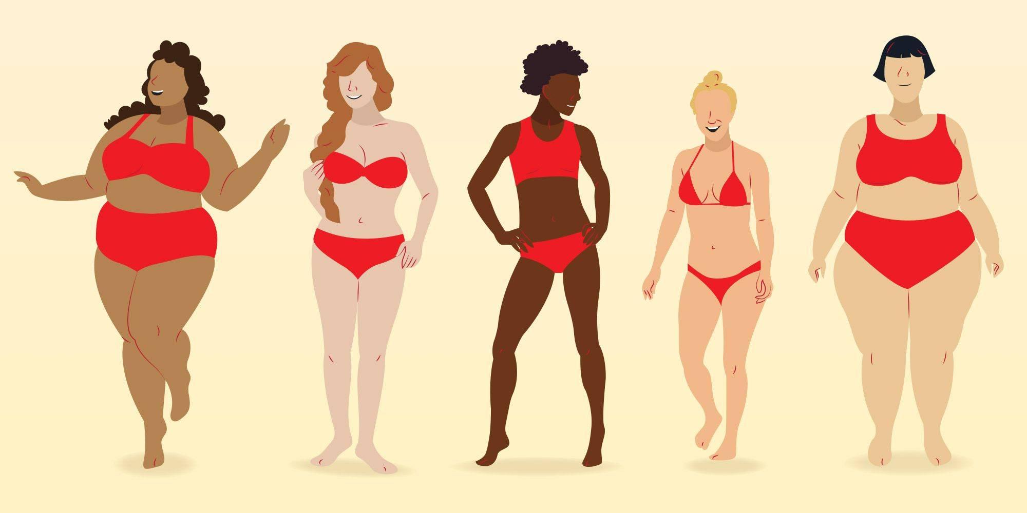 3 типа телосложения у женщин: нормостеническое, астеническое, гиперстенический