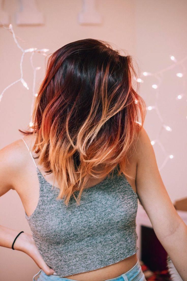 Омбре на темные волосы каре (39 фото): особенности окрашивания стрижки с удлинением с челкой. пепельное и красное, розовое и другие варианты омбре на темных волосах