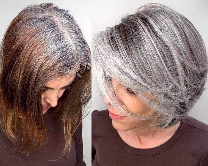 Окрашивание седых волос: выбираем лучший вариант