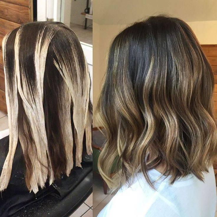 Техника окрашивания балаяж на короткие волосы, фото