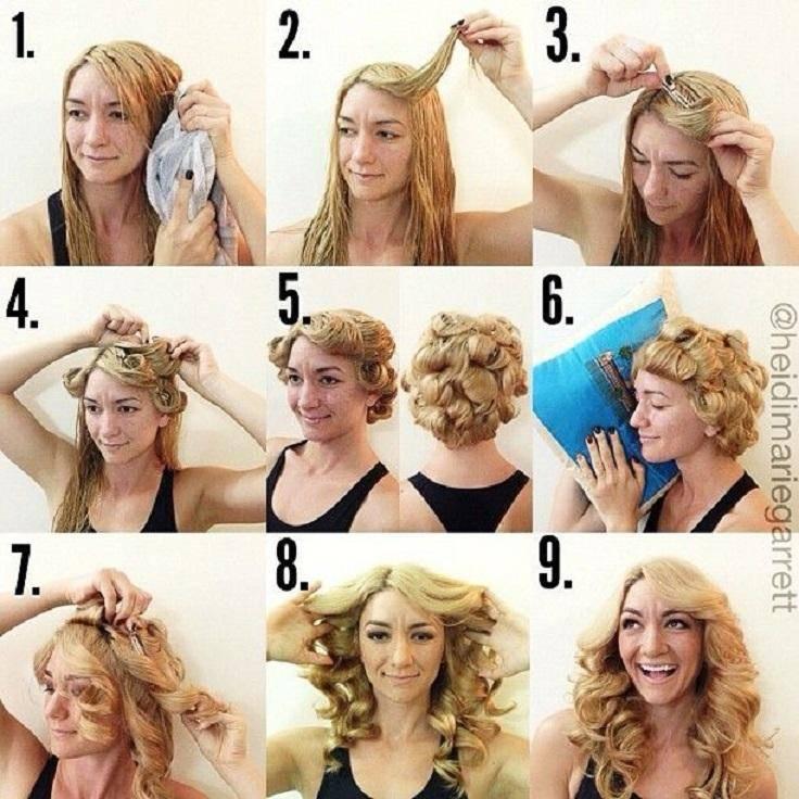 Накрутить короткие волосы на плойку в домашних условиях