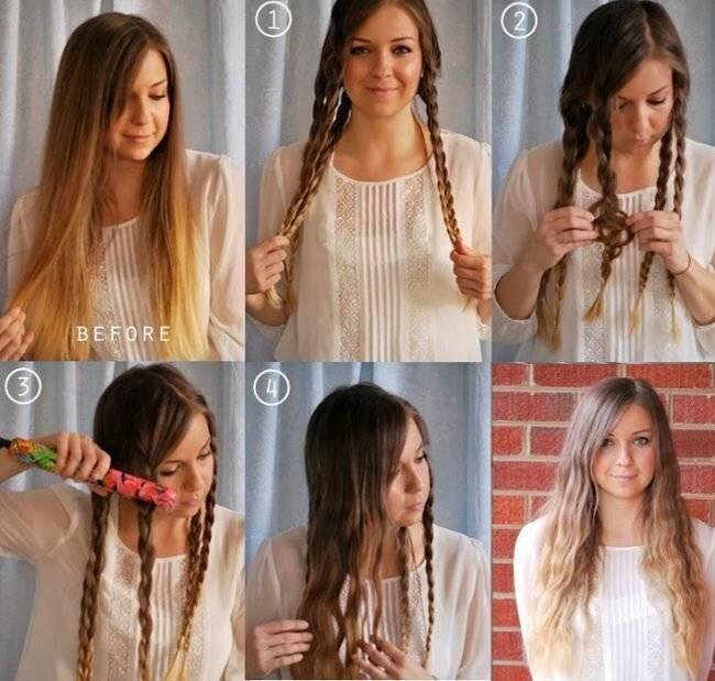 10 способов накрутить волосы без плойки и бигуди