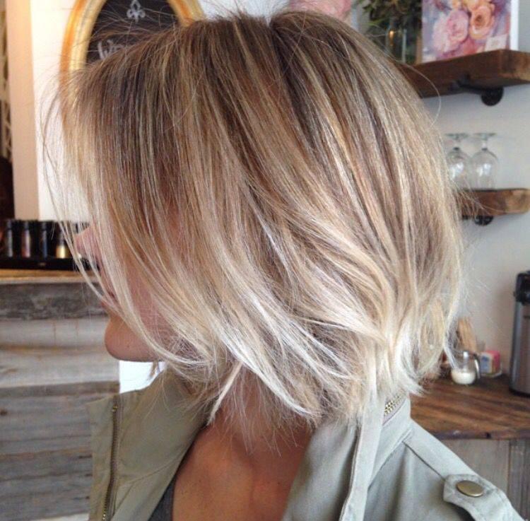 Окрашивание омбре (шатуш) на каре | волосомагия