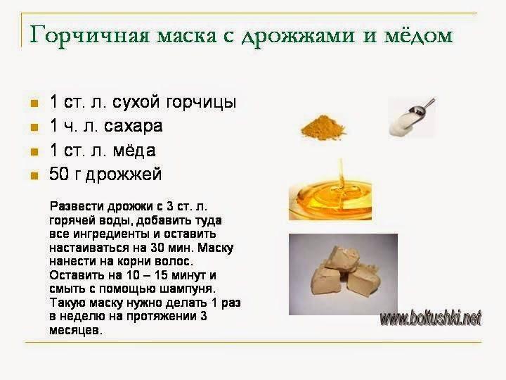 Горчичная маска для волос с медом