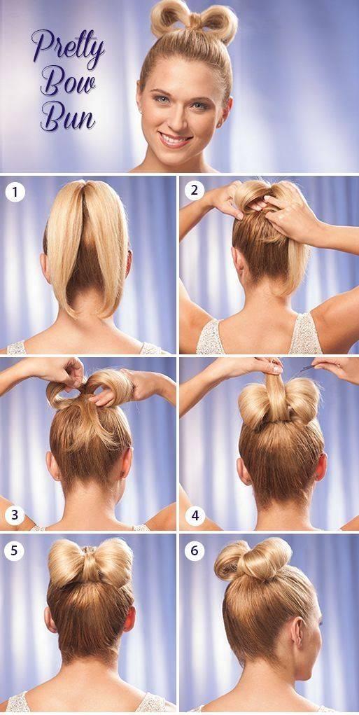 Бант из волос – все варианты модной прически
