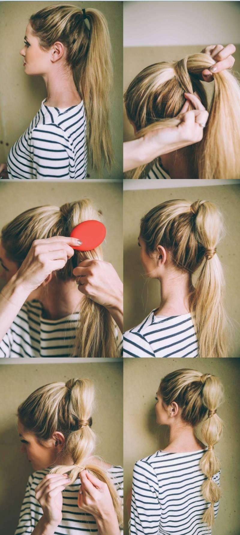 Причёски на длинные волосы своими руками