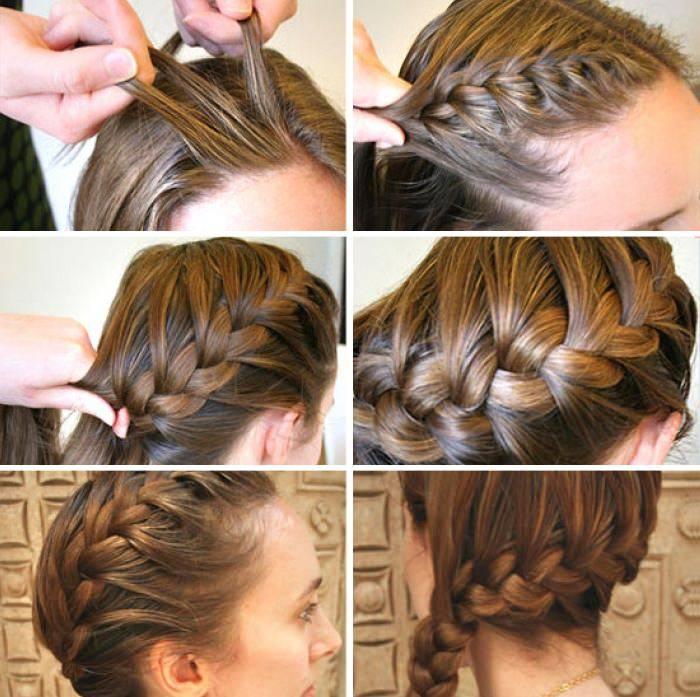 Плетение кос - пошаговые уроки для начинающих, видео. схемы плетения кос на длинные и средние волосы