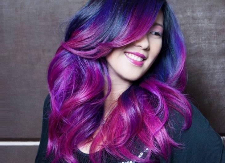 Каковы особенности розового омбре на темные волосы и как выглядит на фото результат процедуры?