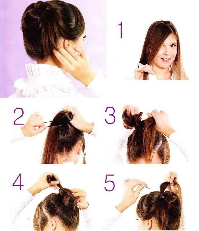 Прически с резинками на длинные волосы