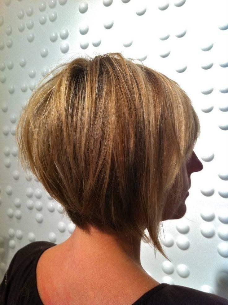 Градуированный боб 2020: варианты на средние, короткие волосы, с челкой