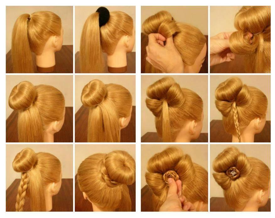 Причёски с ободком для девочек и женщин