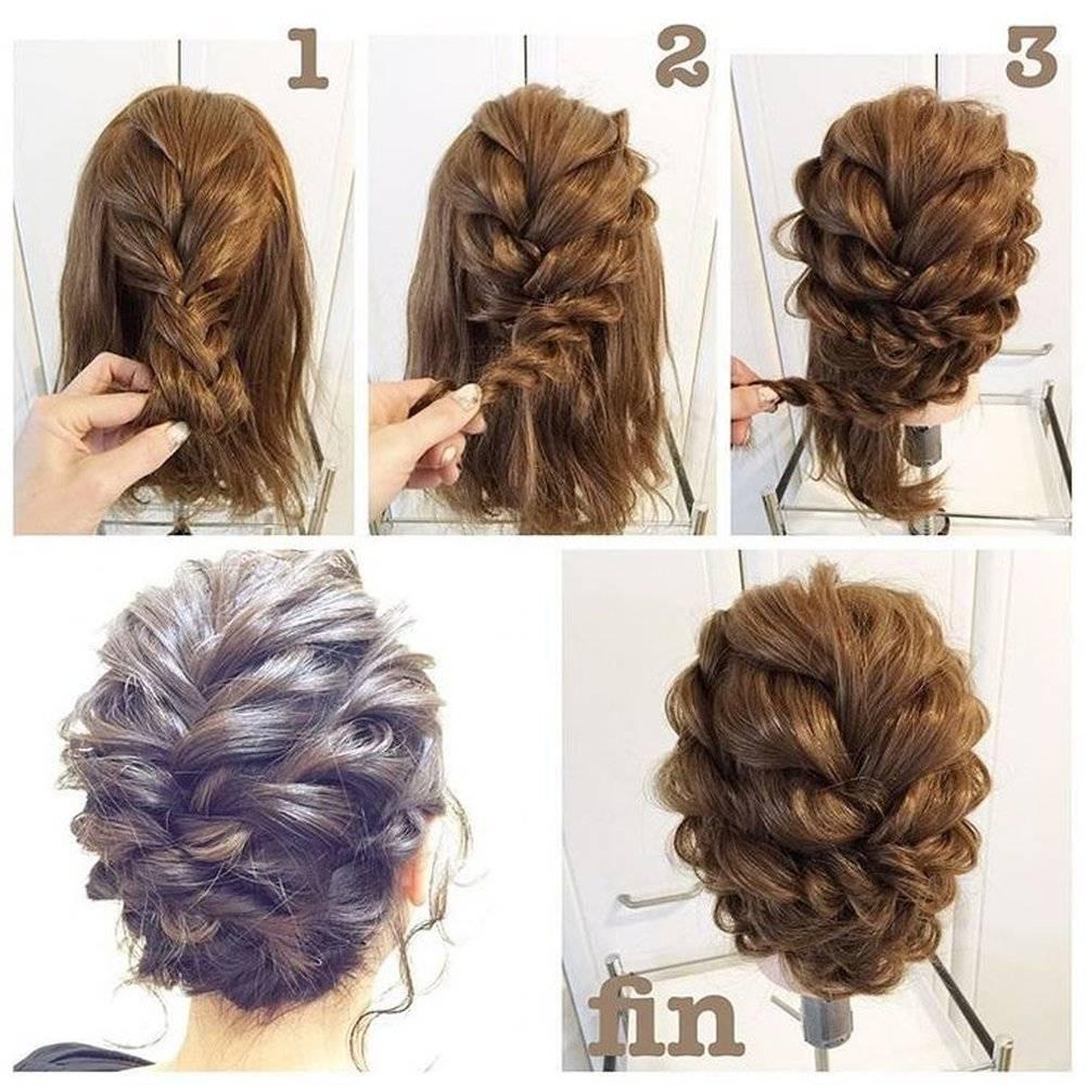 Красивые и легкие прически на короткие волосы
