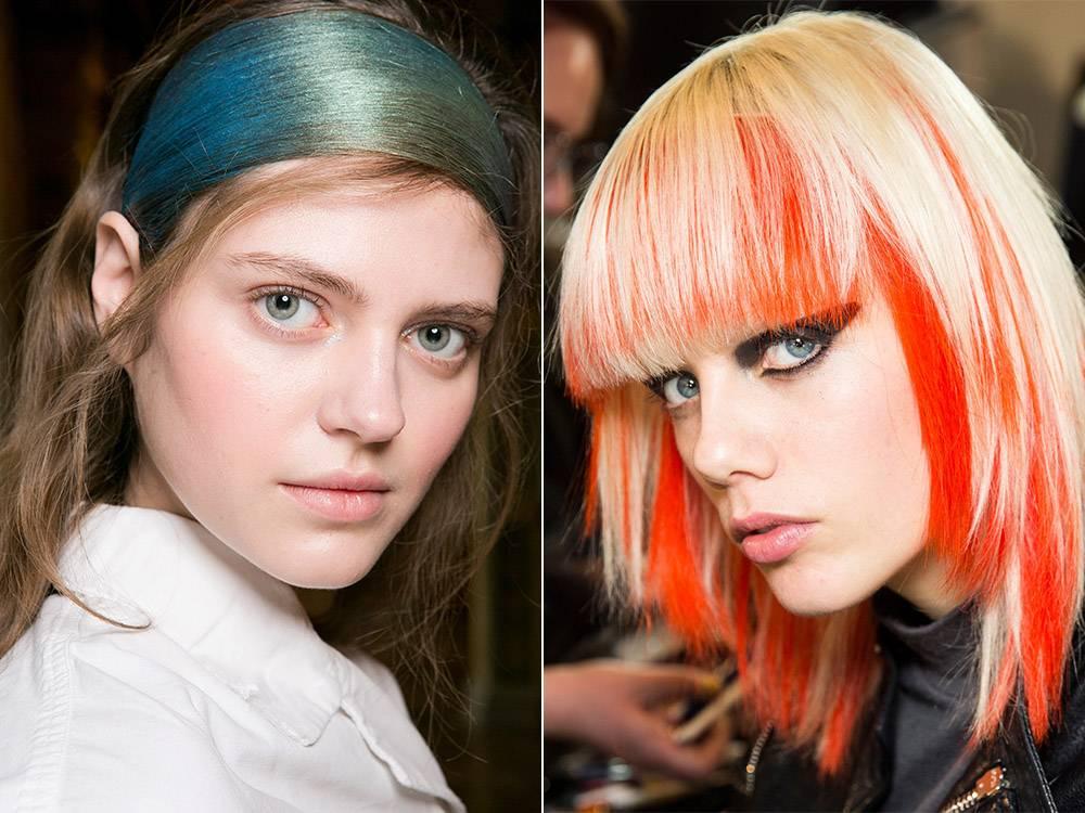 Модное окрашивание волос 2021 на средние волосы для брюнеток