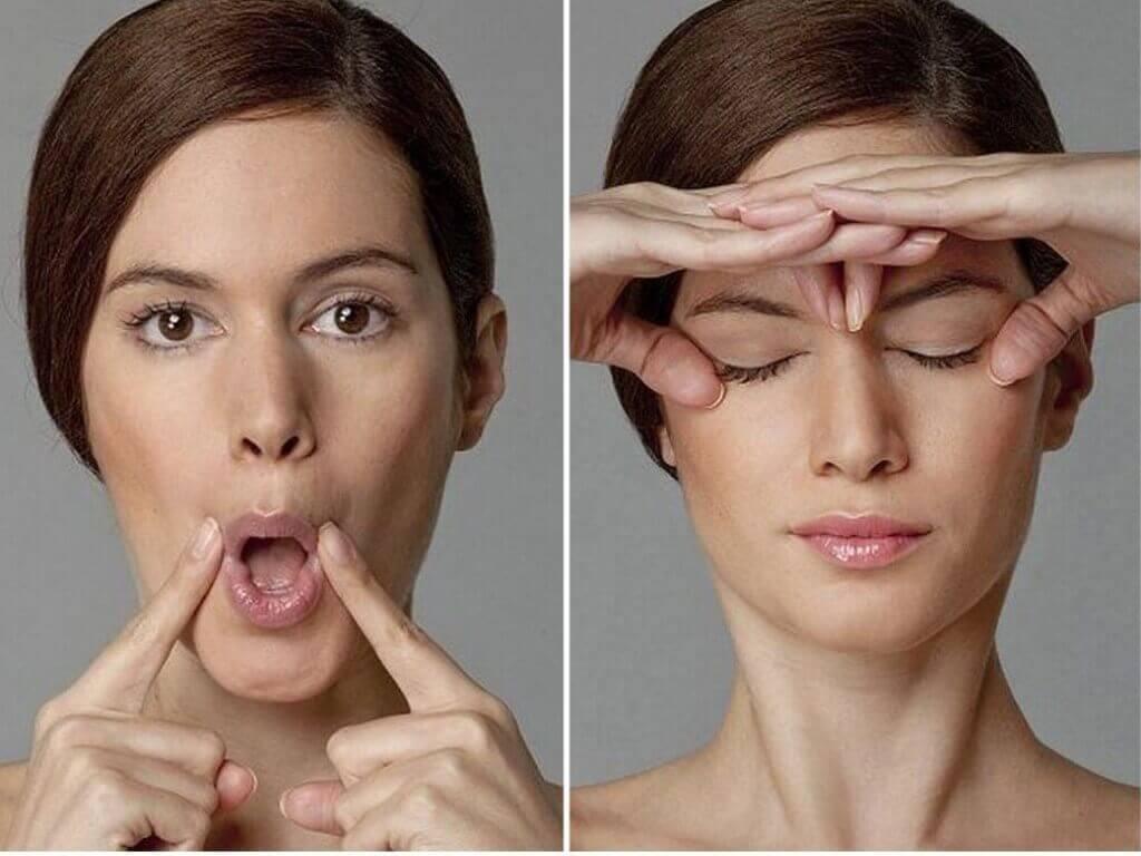 Эффективные упражнения от морщин вокруг глаз