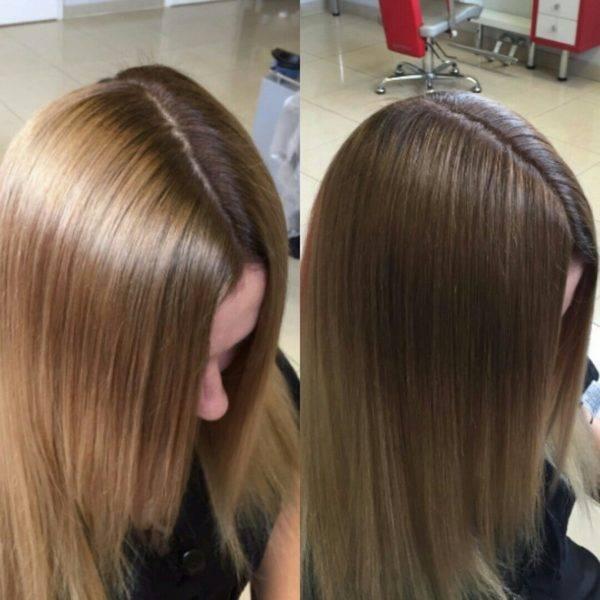 Как закрасить волосы после мелирования