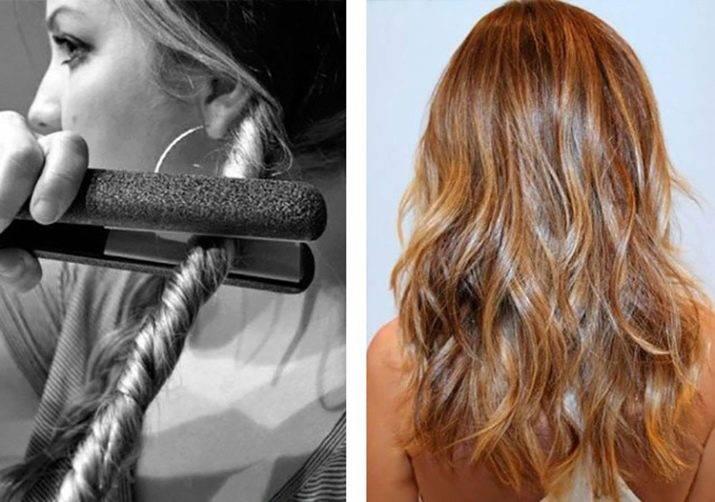 Локоны на средние волосы утюжком. фото, как сделать пошагово, варианты