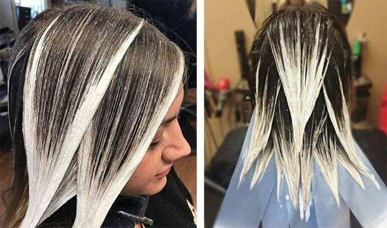Мелирование на каштановые волосы с челкой и без. на короткие, средние, длинные. техника окрашивания, оттенки