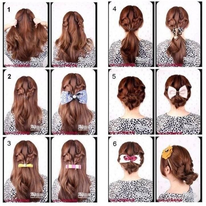 Причёски за 5 минут самой себе: модные и красивые (фото)