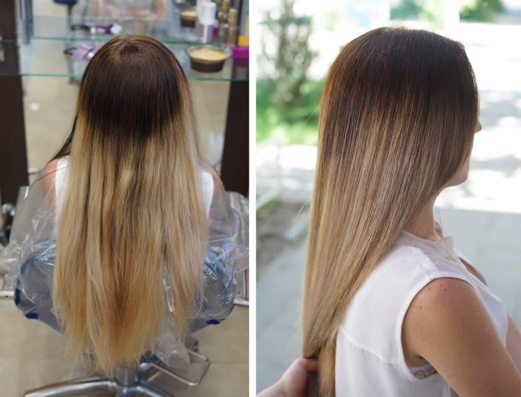 Как правильно затемнить корни блондинке. модное окрашивание волос шатуш (50 фото) — на темные и светлые локоны
