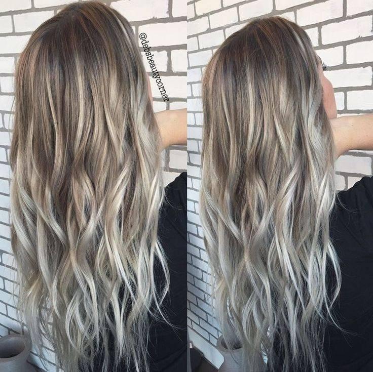 Пепельное омбре на темные волосы: выбор цвета, фото, как сделать самой