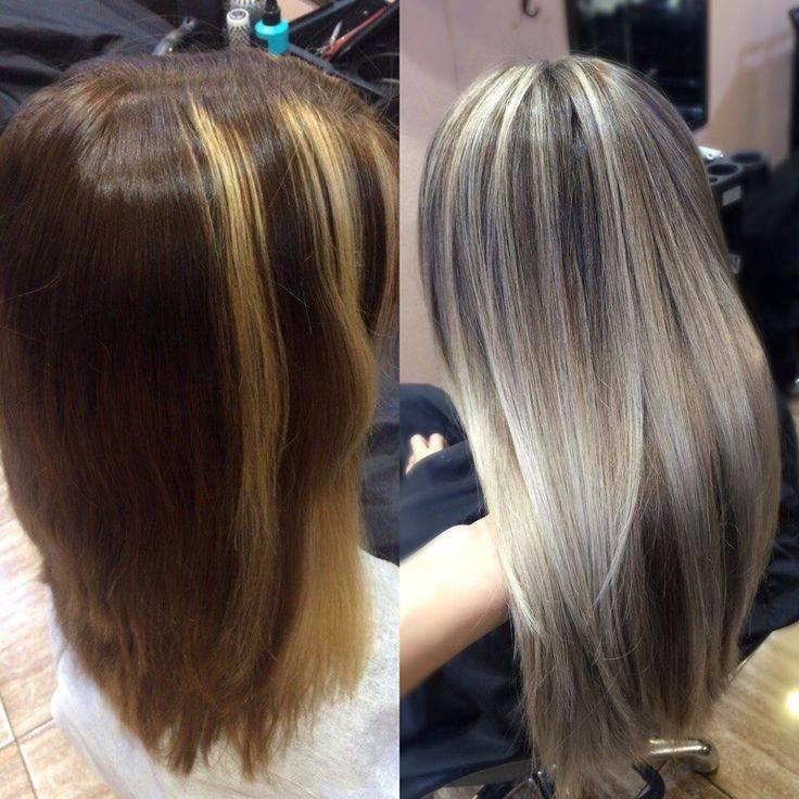 Можно ли частично осветлиться? мелирование на крашеные темные волосы: фото до и после