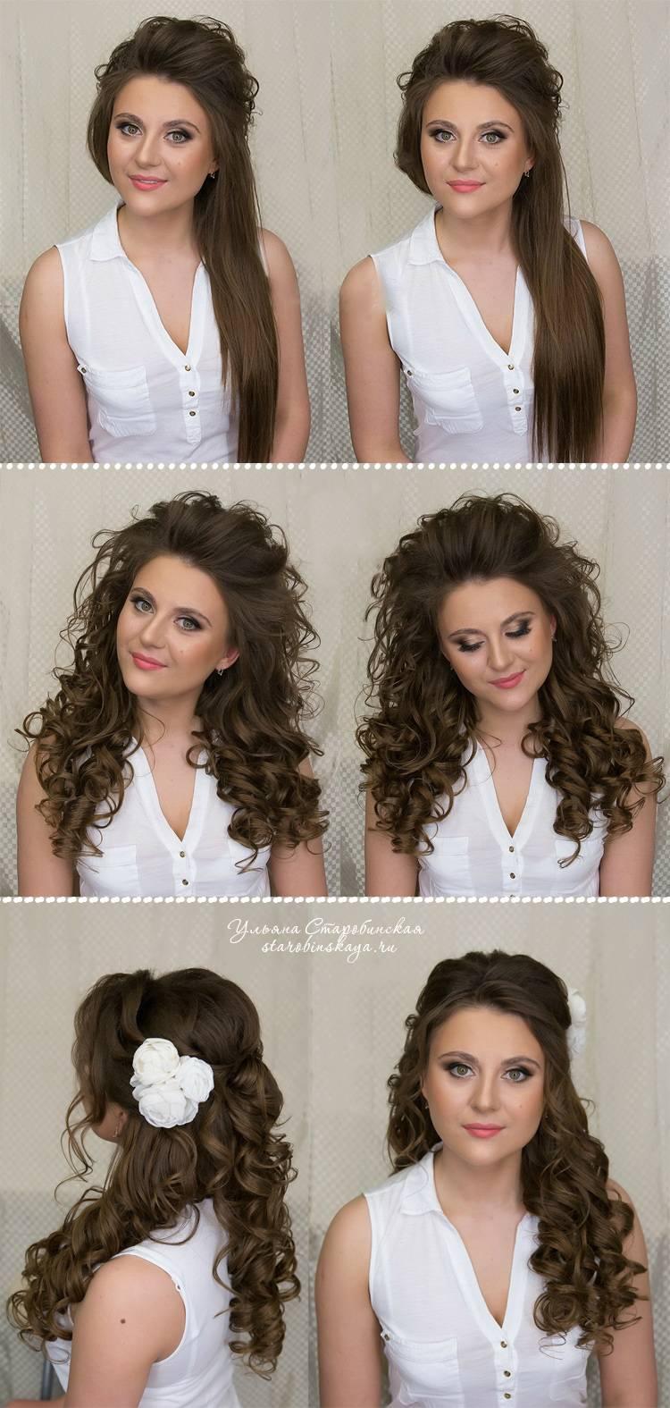 Какие прически можно сделать с кудрями на длинные и средние волосы