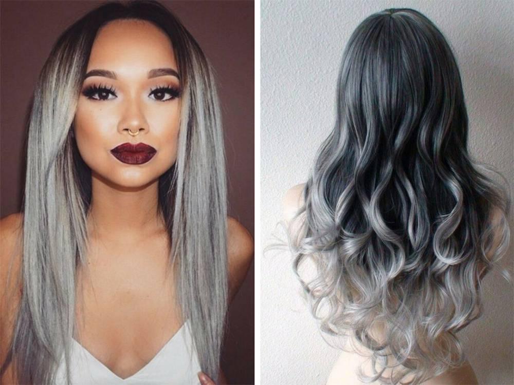 Покраска волос в стиле омбре, омбре на темные волосы с 80 фото