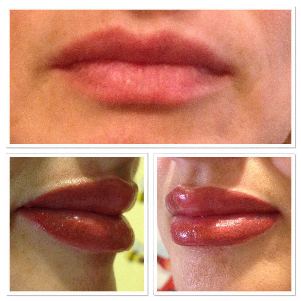 Татуаж губ — сколько держится и заживает