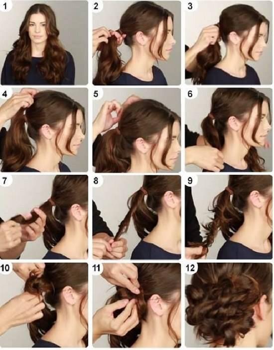 Просто и элегантно: собранные локоны на длинные волосы. пошаговые инструкции и полезные советы по выполнению
