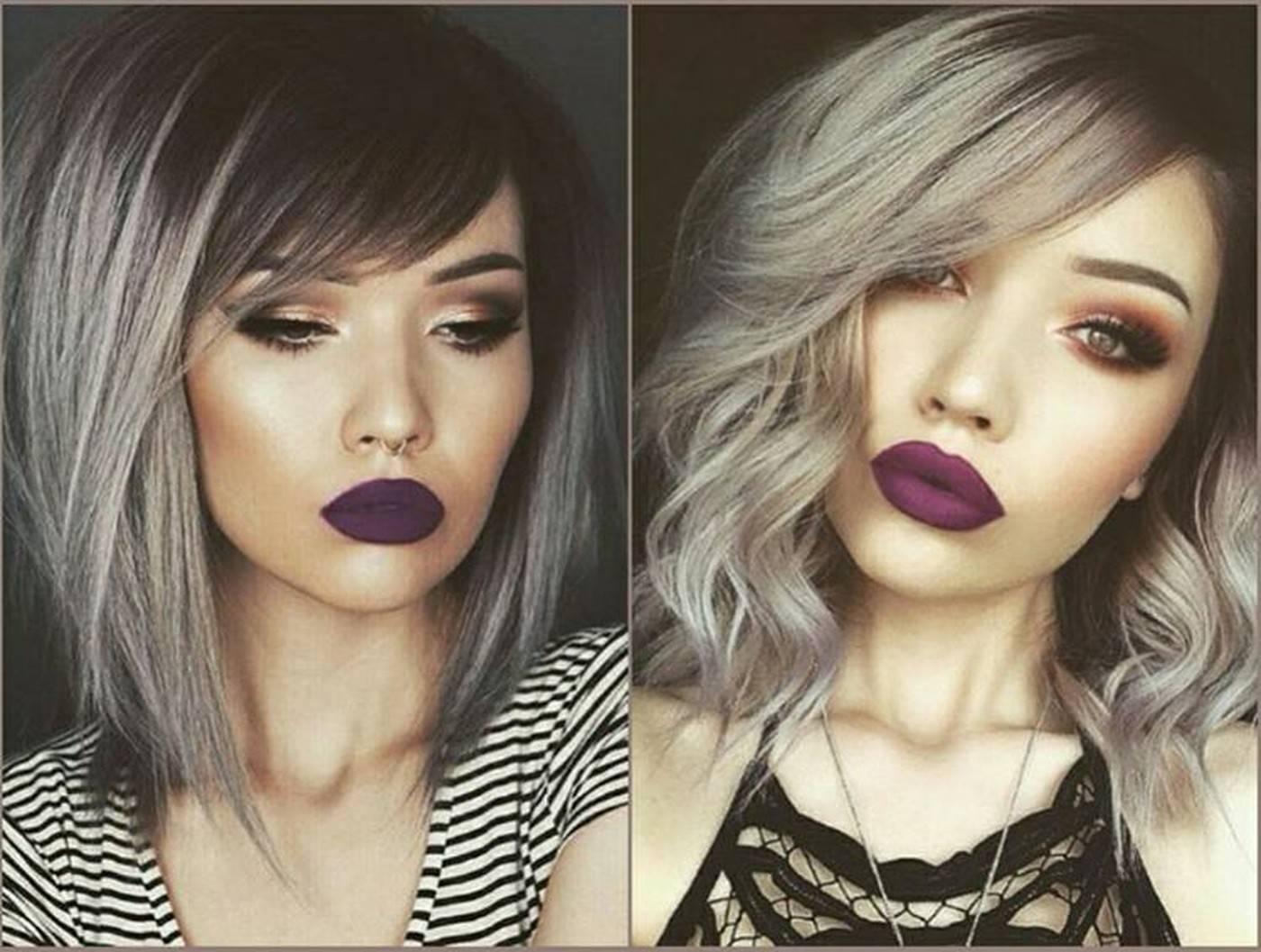 Невероятно изысканное серое омбре на темные волосы: особенности окрашивания, советы стилистов, фото