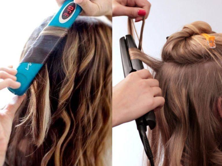 Как утюжком сделать локоны на длинных волосах?