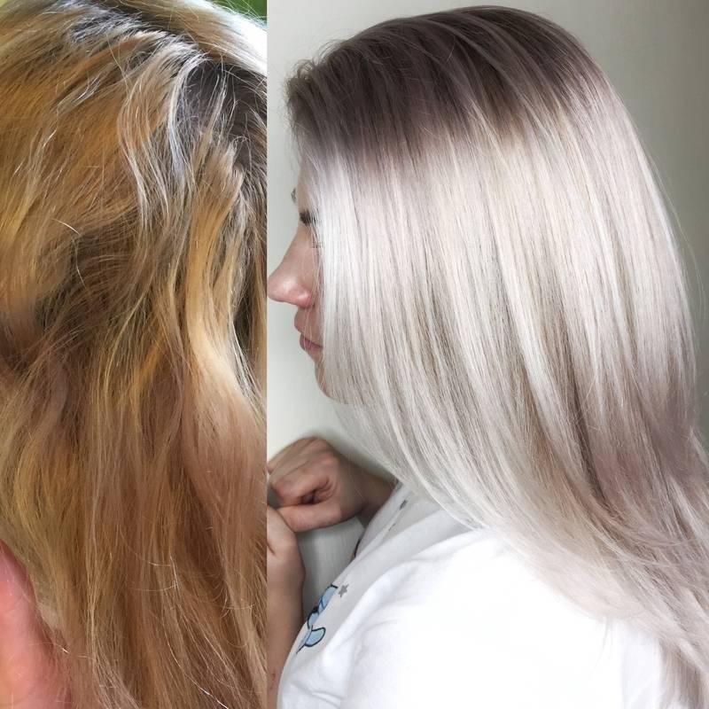 Тонировка волос от желтизны, чем затонировать желтизну после осветления, шампунь нейтрализатор