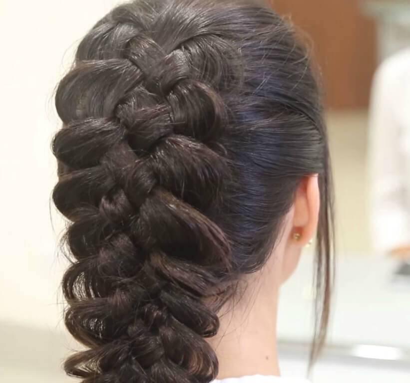 Модные прически с косами на средние волосы 2020 фото