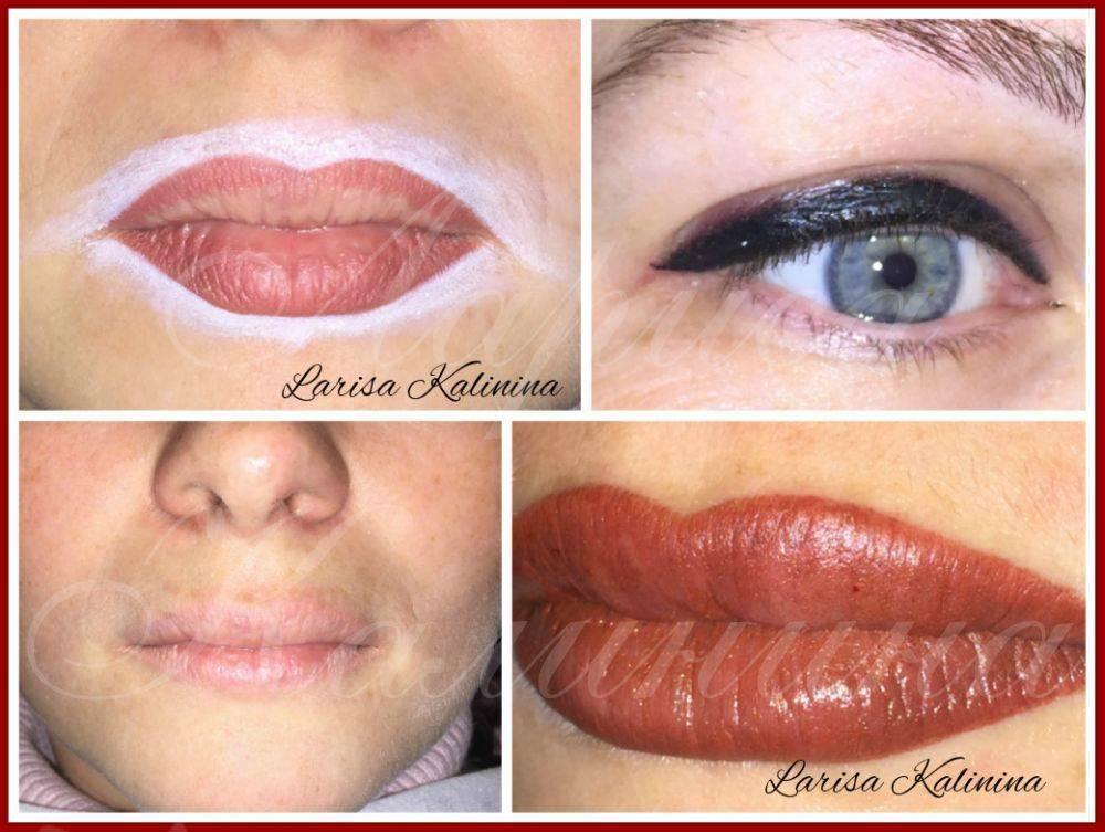 Естественный татуаж губ с растушевкой - фото до и после, цены и отзывы
