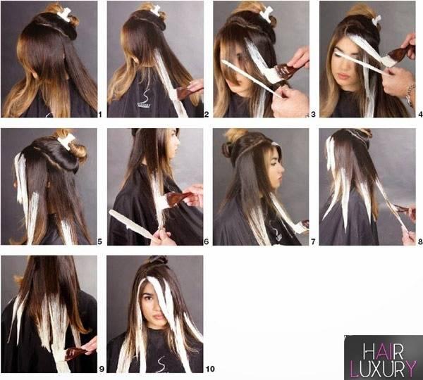 Как сделать окрашивание омбре в домашних условиях на темные, русые, короткие, средние, длинные волосы + 130 фото