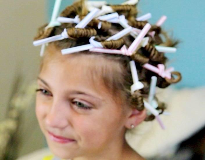 Как накрутить волосы девочке