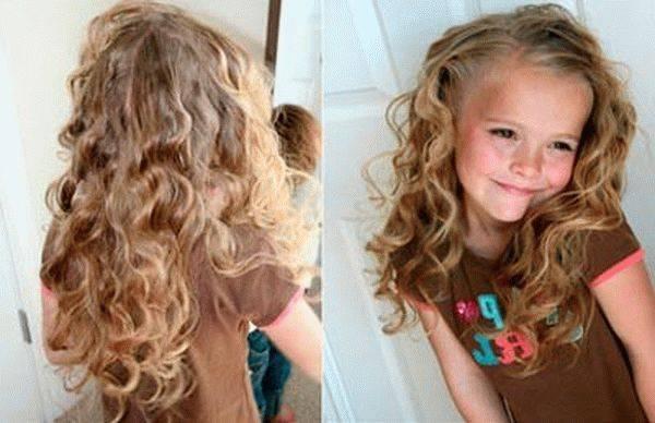 Как накрутить волосы ребенку в домашних условиях