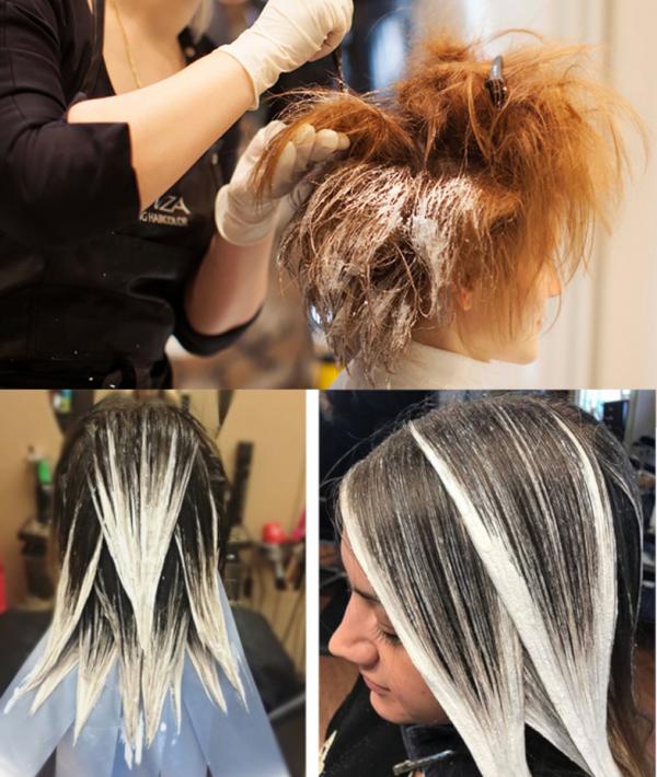 Сложное окрашивание волос: современные техники, правила выполнения, фото результатов