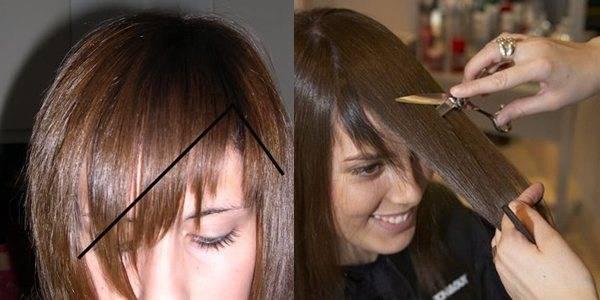 Косая челка удлиненная и рваная (фото) - уход за волосами