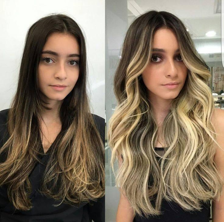 Шатуш - модная техника окрашивания волос, 200 фото