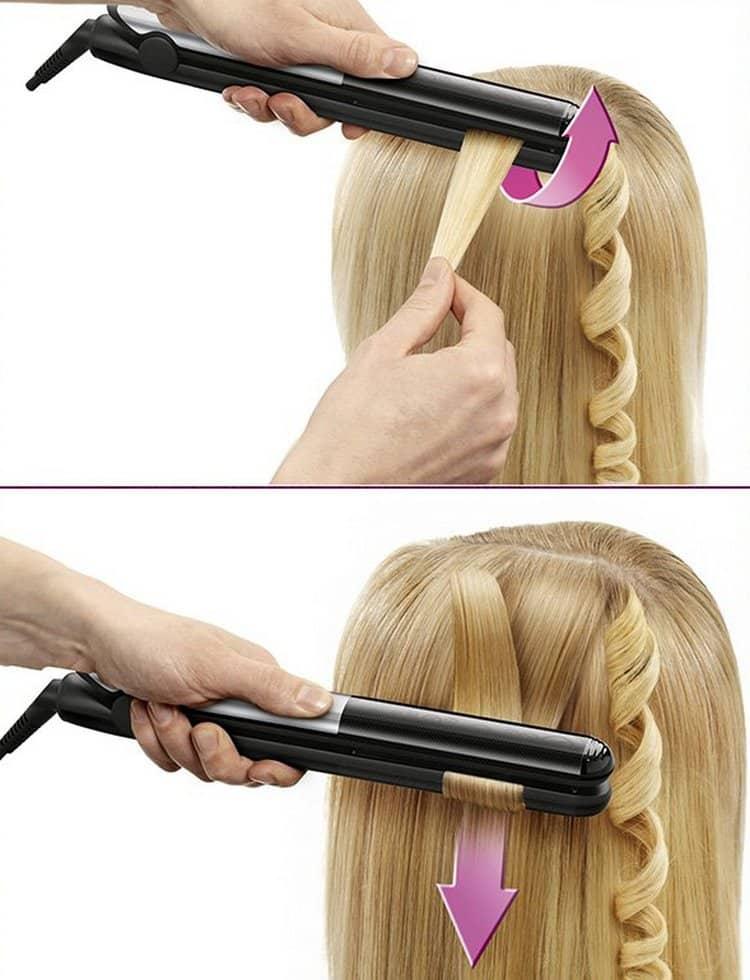Как сделать плойкой для волос красивые кудри