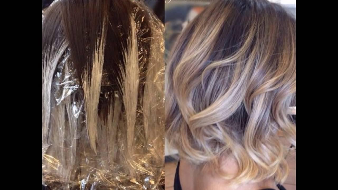 Балаяж на волосы с челкой (67 фото): особенности окрашивания на средние, короткие и длинные темные и русые волосы