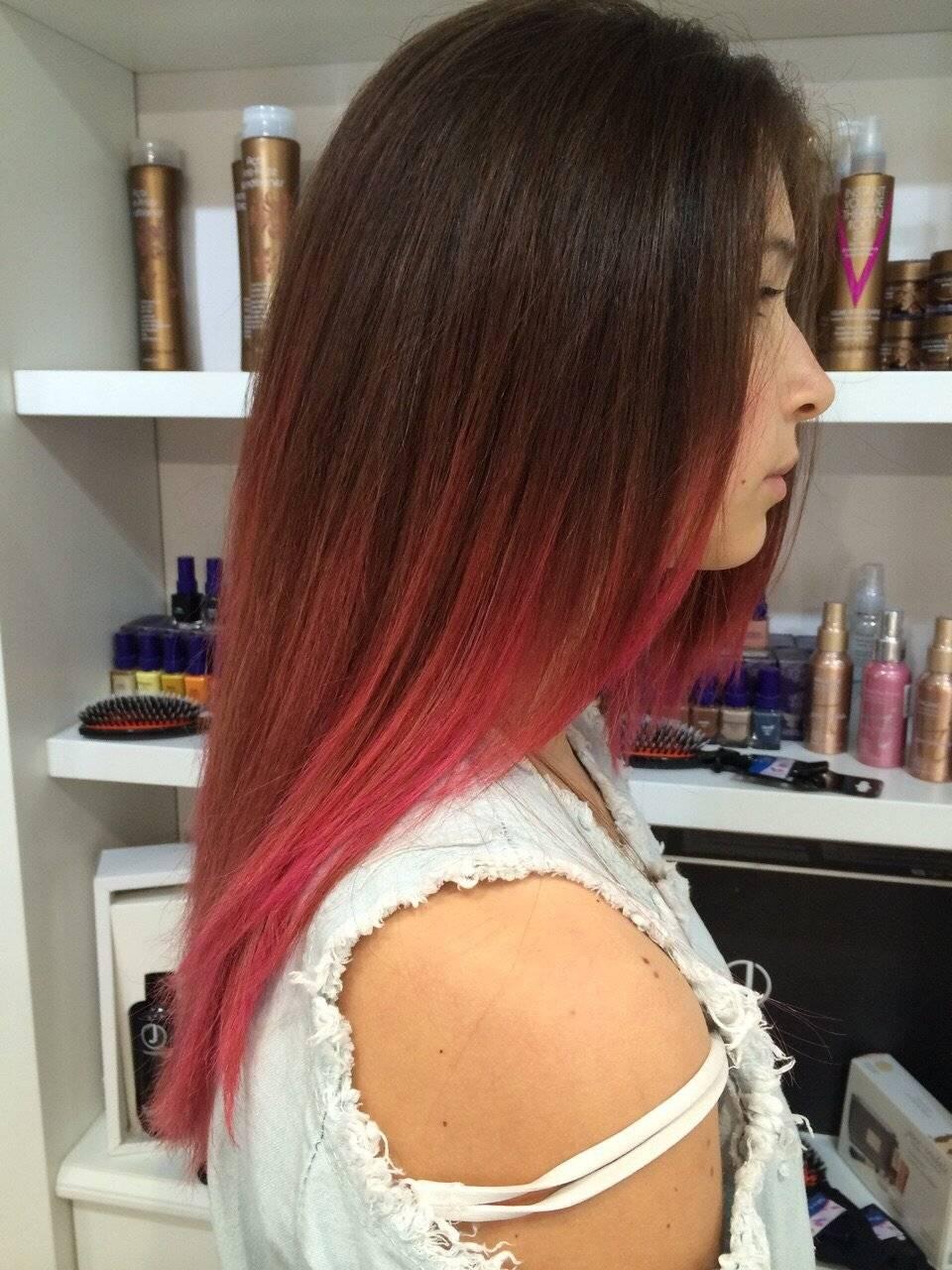 Какой вид омбре на темные волосы выбрать для длинных, средних и коротких волос фото