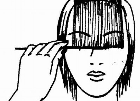 Косая челка (длинная, короткая) – стрижки на короткие, средние, длинные волосы, удлиненное каре с косой челкой, рваная челка (фото)
