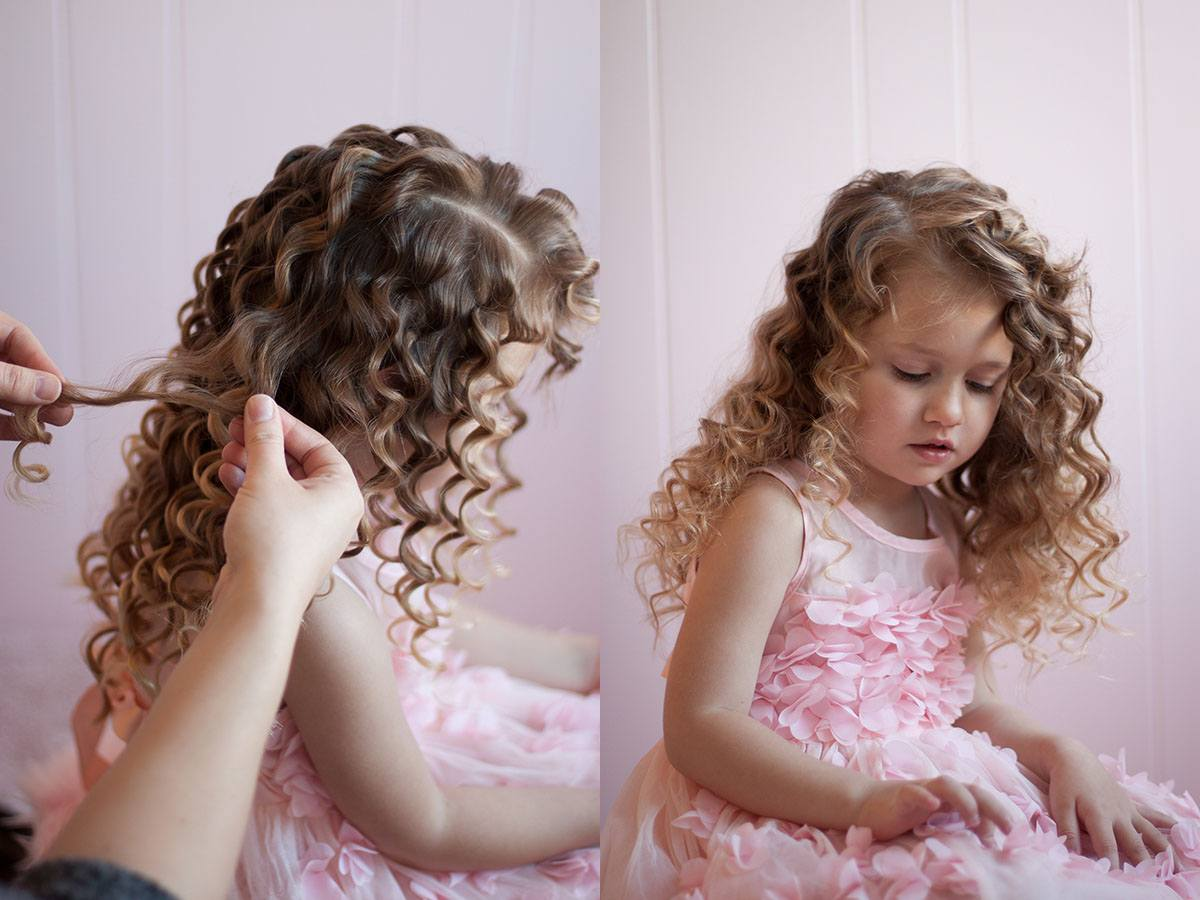 Как сделать кудри ребенку в домашних условиях?