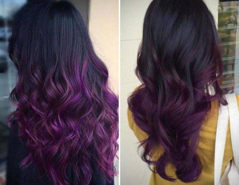 Окрашивание темное омбре на темные волосы — свежие идеи по выбору оттенков!