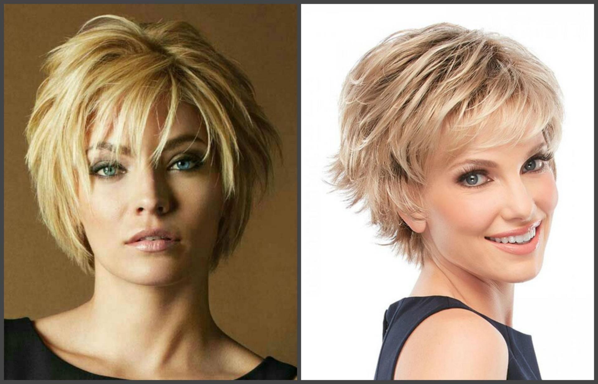 Короткие стрижки для круглого лица (86 фото): женские причёски-2021, какие подойдут дамам после 50 лет и варианты для тонких волос, выбор чёлки и нюансы исполнения для полных женщин