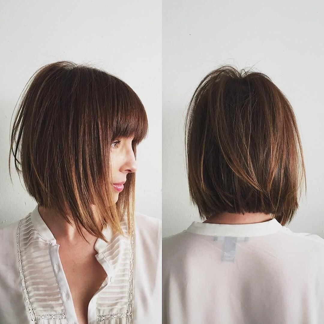 Стрижки с челкой на средние волосы (100 фото): красивые женские прически с длинной и короткой челкой на тонкие волосы средней длины, объемные стрижки на прямые и волнистые локоны