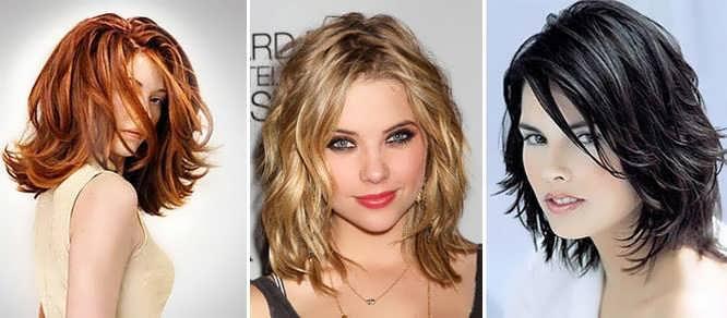 Стрижки на средние волосы с челкой: лесенка, каскад, боб и каре