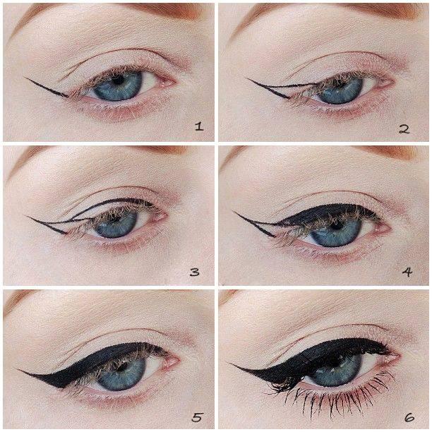 Как правильно рисовать стрелки на глазах разных форм, пошаговая инструкция с фото и видео